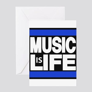 music life blue Greeting Card