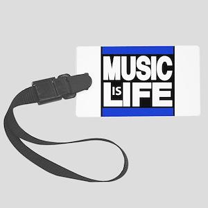 music life blue Luggage Tag