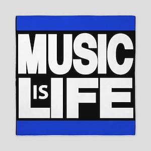 music life blue Queen Duvet