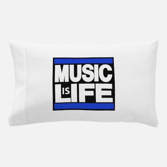 music life blue Pillow Case