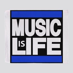 music life blue Throw Blanket