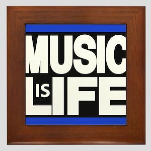 music life blue Framed Tile