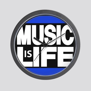 music life blue Wall Clock