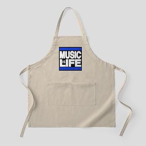 music life blue Apron