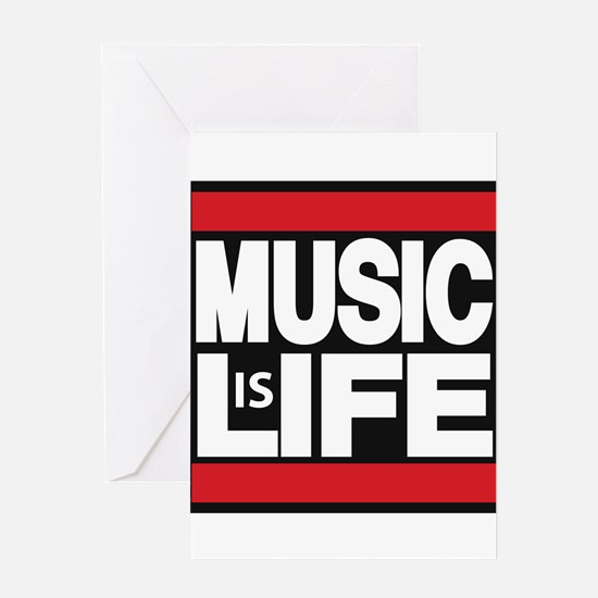 music life red Greeting Card