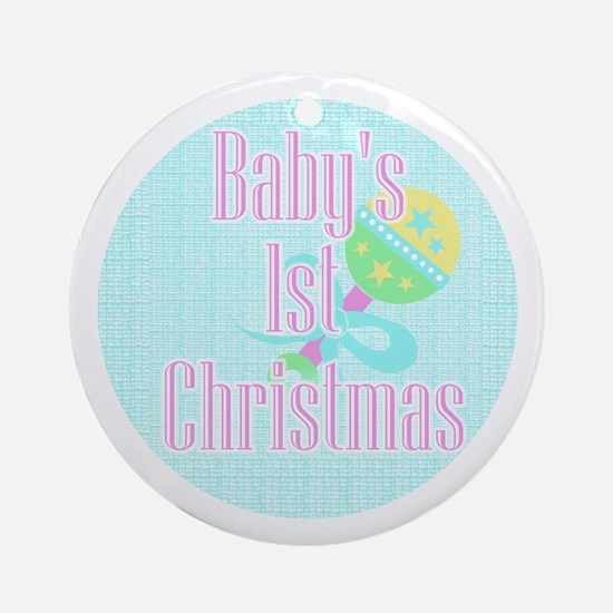 Baby Rattle Baby's First Ornament (Round)
