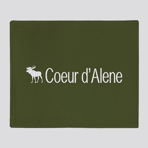 Coeur d'Alene Moose Throw Blanket
