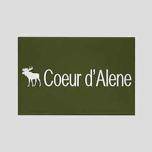 Coeur d'Alene Moose Rectangle Magnet