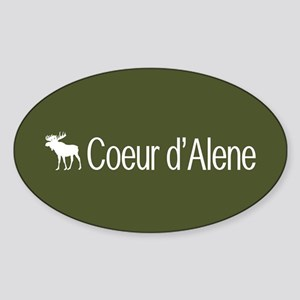 Coeur d'Alene Moose Sticker (Oval)