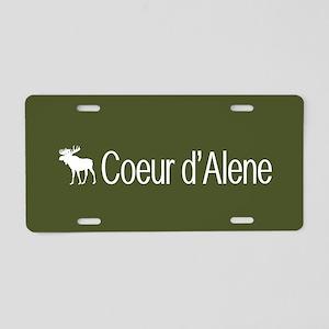 Coeur d'Alene Moose Aluminum License Plate