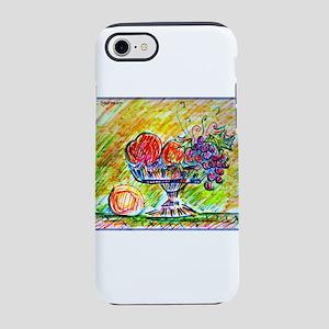 Fruit bowl! Colorful art! iPhone 7 Tough Case