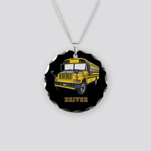 Bus Driver Necklace Circle Charm