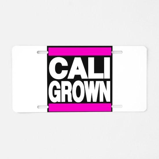 caligrown pink Aluminum License Plate