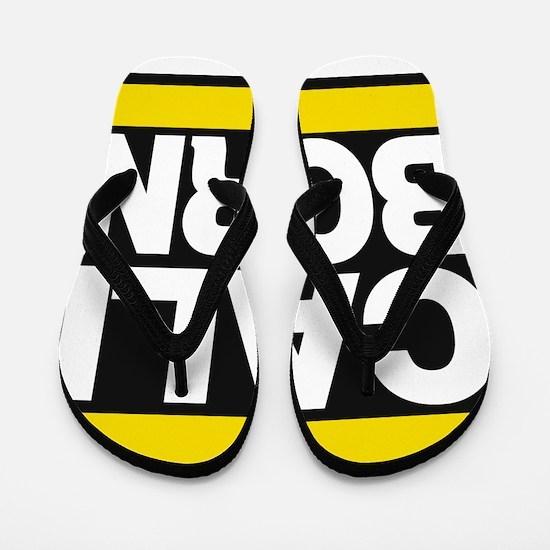 caliborn yellow Flip Flops