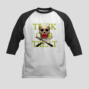 Trick or Treat Lips Kids Baseball Jersey