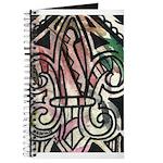 Candy Striped Fleur De Lis Journal