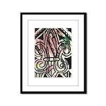 Candy Striped Fleur De Lis Framed Panel Print