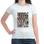 Candy Striped Fleur De Lis T-Shirt