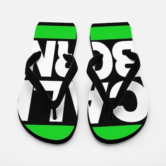 caliborn green Flip Flops