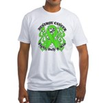 Destroy Non-Hodgkins Cancer Fitted T-Shirt