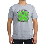 Destroy Non-Hodgkins Cancer Men's Fitted T-Shirt (
