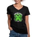 Destroy Non-Hodgkins Cancer Women's V-Neck Dark T-