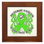 Destroy Non-Hodgkins Cancer Framed Tile