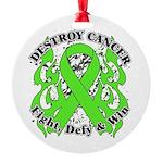 Destroy Non-Hodgkins Cancer Round Ornament