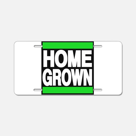 homegrown green Aluminum License Plate