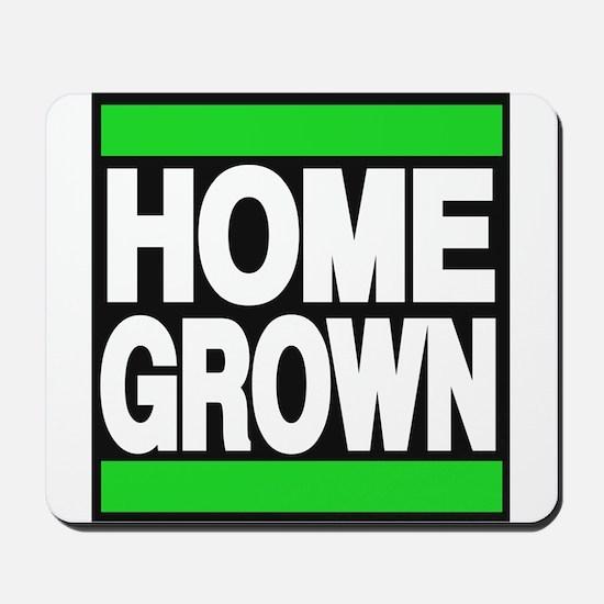 homegrown green Mousepad