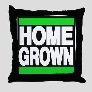 homegrown green Throw Pillow