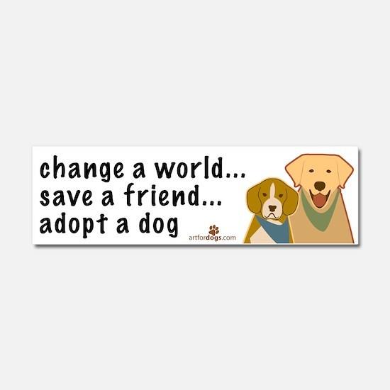 Adopt a Dog Car Magnet 10 x 3