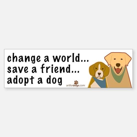 Adopt a Dog Bumper Bumper Bumper Sticker