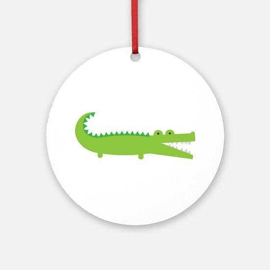 Alligator Ornament (Round)