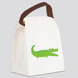 Alligator Canvas Lunch Bag