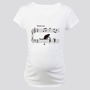 Cat Toying with Note v.2 Maternity T-Shirt