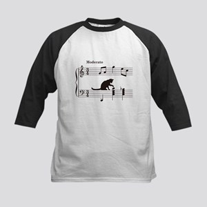 Cat Toying with Note v.2 Kids Baseball Jersey