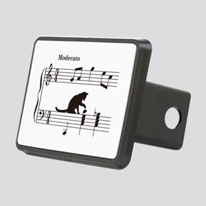 Cat Toying with Note v.2 Rectangular Hitch Cover