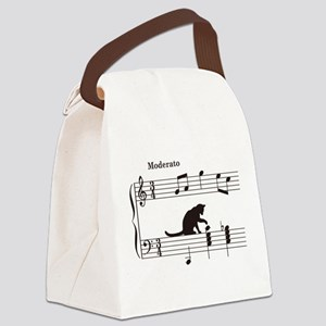 Cat Toying with Note v.2 Canvas Lunch Bag