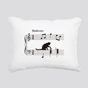 Cat Toying with Note v.2 Rectangular Canvas Pillow
