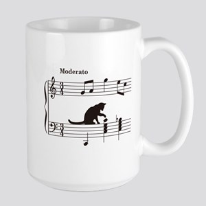 Cat Toying with Note v.2 Large Mug