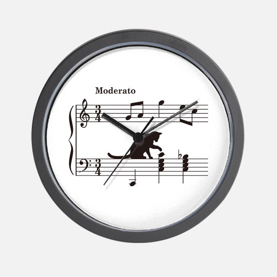 Cat Toying with Note v.2 Wall Clock