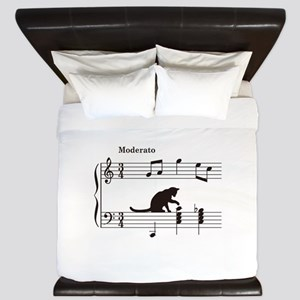 Cat Toying with Note v.2 King Duvet