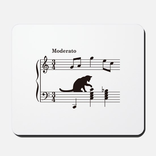 Cat Toying with Note v.2 Mousepad