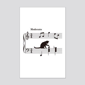 Cat Toying with Note v.2 Mini Poster Print
