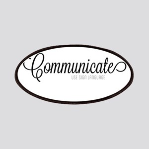 Communicate, use sign language Patches