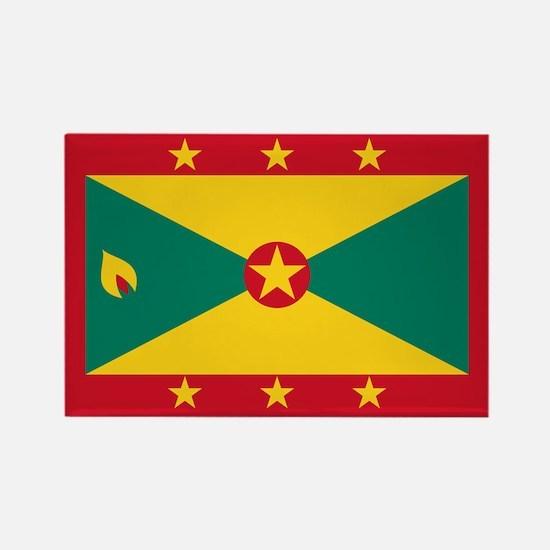 Flag of Grenada Rectangle Magnet