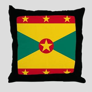 Flag of Grenada Throw Pillow