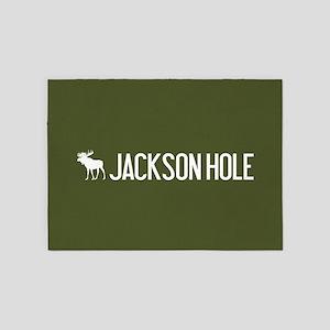 Jackson Hole Moose 5'x7'Area Rug