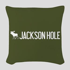 Jackson Hole Moose Woven Throw Pillow